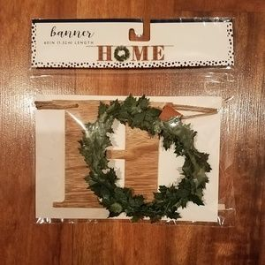 New wooden farmhouse style home decor banner.